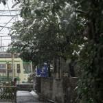 【Tokyo Train Story】雪の日の路地裏風景(都電荒川線)