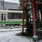 【Tokyo Train Story】雪の鳥居(都電荒川線)