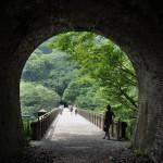日本最大のレンガ造りの橋であるめがね橋を見学する 夏の青春18きっぷで行くアプトの道の旅 その6