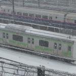 【Tokyo Train Story】まるで雪国のような山手線風景