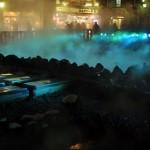 特別ライトアップが施された湯畑の幻想的な風景 春の草津温泉旅行 その8