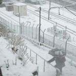 【Tokyo Train Story】大雪が降る諏方神社から西日暮里駅を見下ろす(山手線)