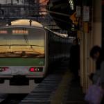 【Tokyo Train Story】雪の中の朝日(山手線)