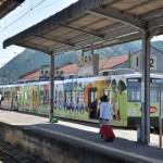 井戸がある上信電鉄馬庭駅を撮影する 夏の青春18きっぷで行くぐんまワンデーパスの旅 その3
