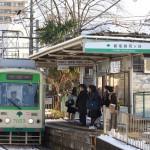 【Tokyo Train Story】雪の中の通学電車(都電荒川線)