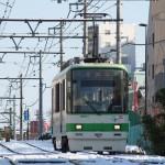【Tokyo Train Story】雪が残る朝の下り道(都電荒川線)
