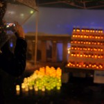 震災復興を祈念する湯畑のキャンドルライトアップ 春の草津温泉旅行 その16