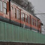 吹雪の長野原草津口駅で115系と185系電車を撮影する 春の草津温泉旅行 その20
