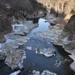 凍った道を慎重に歩き進めた龍王峡の散策路 冬の鬼怒川温泉への旅 その13