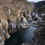 龍王峡の散策コースで見つけた自然が作り出した氷の芸術作品 冬の鬼怒川温泉への旅 その14