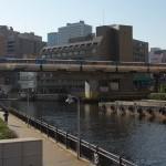 【Tokyo Train Story】東京モノレールの運河沿いの景色