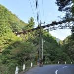 川苔山登山道を自転車でぐんぐん登って行く 初秋の奥多摩トレックリングの旅 その3