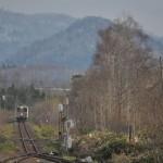 釧網本線緑駅での列車交換の様子を撮影する ぐるっと道東の旅 その22