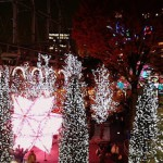 東京ドーム前のライトアップ