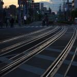 【Tokyo Train Story】夕暮れ時の都電の線路