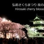 弘前さくらまつり2014で今年を最後にしばらく見ることができない夜の弘前城と桜の風景を動画撮影してきた!花筏、弘前城、桜のトンネル、岩木山、とにかく見どころ満載です!