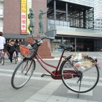 弘前駅までレンタサイクルを借りて桜吹雪の弘前天満宮へ 『弘前の桜を見に行こう!』 その25