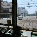 松山の伊予鉄道市内電車と郊外電車が平面交差(ダイヤモンドクロス)する様子を写真と動画で撮影してみた! 『四国・九州温泉巡りの旅』 その7