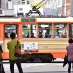 松山の路面電車らしい風景とJR松山駅松山駅のみどりの窓口 『四国・九州温泉巡りの旅』 その6