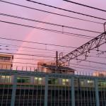 虹と夕焼けが美しい東京の夕暮れをiPhone5sで撮影してみた!