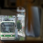 【Tokyo Train Story】都電の車内から対向列車を望む