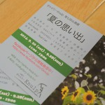 平成26年(2014年)9月20日(土)~28日(日)まで 千駄木のぎゃらりーKnulpにて「夏の思い出」展開催 とくとみの夏の写真も展示されます!