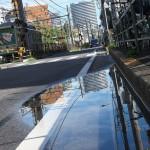【Tokyo Train Story】雨上がりの水たまり(都電荒川線)
