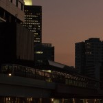 【Tokyo Train Story】赤く染まる汐留駅(ゆりかもめ)