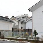 松本市内に残る角を有効活用した古い建物 『冬の長野 アルクマ詣での旅』 その2