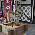 西井澤屋の辻井戸はたぬきケーキを販売している翁堂の前にある! 『冬の長野 アルクマ詣での旅』 その5