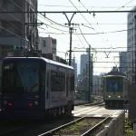 【Tokyo Train Story】春日通りでのすれ違い(都電荒川線)