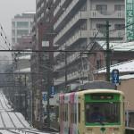 【Tokyo Train Story】雪の日の高戸橋(都電荒川線)