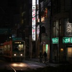 【Tokyo Train Story】夜の大塚駅前電停付近の風景(都電荒川線)