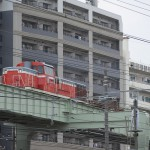 【Tokyo Train Story】亀戸駅付近でディーゼル機関車が牽引する貨物列車を見る