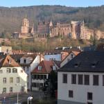 ハイデルベルク城から逆光に輝くハイデルベルクの美しい街並みを眺めてみる 『ドイツ路地裏散歩の旅』 その28 #ANAxトラベラーズ