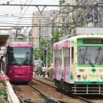 【Tokyo Train Story】町屋駅前電停のバラ(都電荒川線)