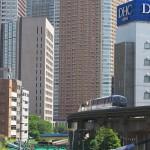 【Tokyo Train Story】ビルと運河(東京モノレール)
