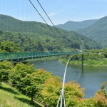360度の緑に囲まれた長さ320mのもみじ谷大吊橋を渡ってみた 『塩原元湯温泉大出館の旅』 その9