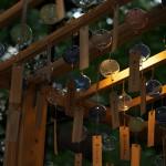 日没間近の風鈴は優しげなライトアップに照らされて幻想的な雰囲気になる 『川越氷川神社 縁むすび風鈴 2015』 その2
