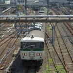 【Tokyo Train Story】上野駅を出る特急型車両を跨線橋の上から撮影してみる