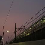 【Tokyo Train Story】夕暮れ時の線路際(東北本線)