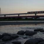 【Tokyo Train Story】多摩川から多摩モノレールを見上げる