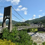 大正11年完成の木曽川に架かる石と木で造られた桃介橋 『夏の長野旅2015』 その20