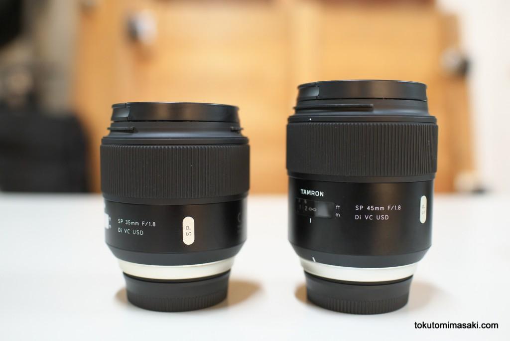 タムロンの35mmと45mm単焦点レンズ