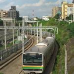 【Tokyo Train Story】高台から湘南新宿ラインを見下ろす