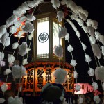 夕闇の中、池上本門寺のお会式で万灯練行列が開始される 『平成27年度 池上本門寺のお会式』 その3