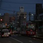 【Tokyo Train Story】都電荒川線の新型車両8900形が夕闇迫る中を走る