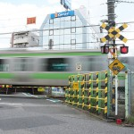 【Tokyo Train Story】山手線の第二中里踏切の踏切標識