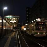 【Tokyo Train Story】夜の空になりつつある町屋駅前電停(都電荒川線)