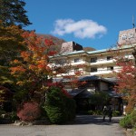 生花や鶴で飾られた和の空気をまとう川治温泉の柏屋の館内探検『秋の栃木へ 2015』 その7